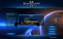 Starcraft II Login Screen
