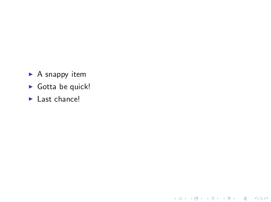 Spread Out List Items With LaTeX beamer | [lm]azy