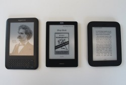 Kindle, Nook and Kobo Touch