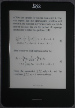 Some SVG math on Kobo Touch